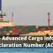 Nafeza egypt Advanced Cargo Information Declaration Number (ACID)